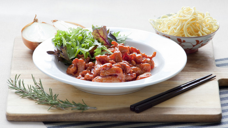 201908 Sweet and Sour Chicken with Noodles